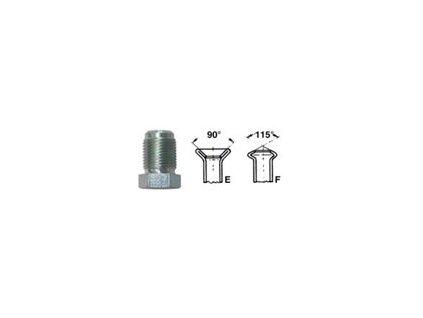 Šroubení brzdového potrubí, profil F, M12x1 vnější, 4.75 mm