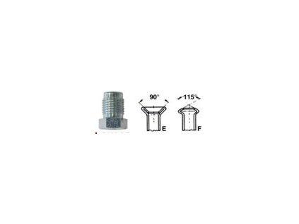 Šroubení brzdového potrubí, profil F; M10x1 vnější ; 4,75mm