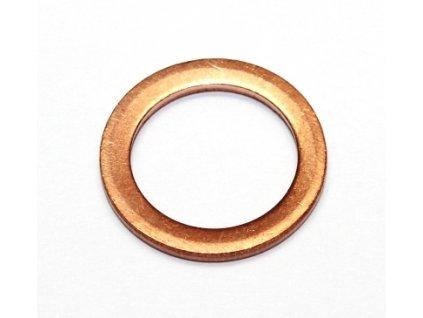 Těsnicí kroužek měděný, průměr 12/17 mm, tloušťka 1,5 mm, pro BMW, Seat, Toyota