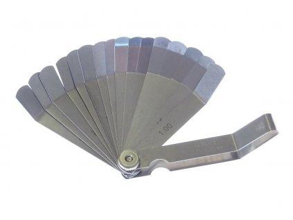 Ventilové (spárové) měrky zahnuté, 0.05 - 1.0 mm, 16 listů - QUATROS QS15518