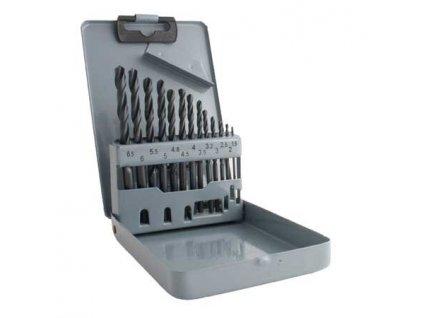 Vrtáky HSS do kovu, 1.5 - 6.5 mm, sada 13 ks v plechovém boxu