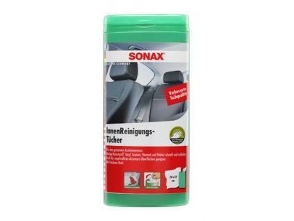 Čisticí ubrousky na interiér auta, vlhčené, 20 x 18 cm, sada 10 kusů - Sonax