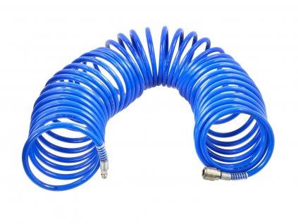 Vzduchová hadice spirálová, velký průtok, 8 mm x 12 mm x 15 m, s rychlospojkami