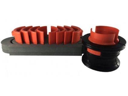 Přípravky na montáž těsnění - simeringů předního tlumiče motocyklu, 40-50 mm, sada 5 dílů