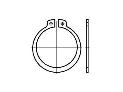 Pojistné kroužky na hřídele - vnější segrovky DIN 471, různé rozměry