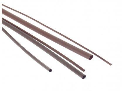 Bužírka - hadička smršťovací 6,4/3,2 mm, délka 1 m, polyetylen - hnědá