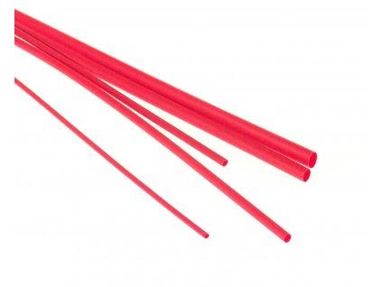 Bužírky - hadičky smršťovací, různé rozměry, délka 1 m, polyetylen - červená
