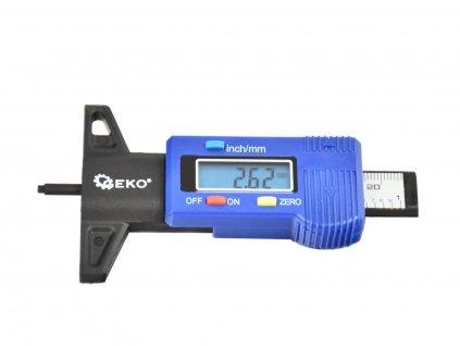 Digitální měřič hloubky dezénu pneumatik, rozsah 0 - 25,4 mm