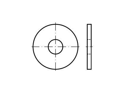 Podložky velkoplošné DIN 440, pozinkované, různé rozměry