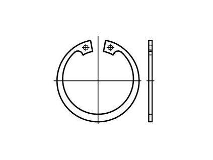Pojistné kroužky do otvoru - vnitřní segrovky DIN 472, různé rozměry