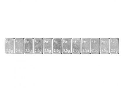 Samolepící závaží nízké 12x2,5g, pásek 30g, pozinkované