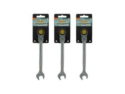 Ráčnové očkoploché klíče s kloubem, velikosti 8-24 mm - JONNESWAY