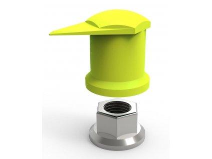 Indikátor povolení matic 33 mm horní, pro nákladní auta a autobusy, plast - Dustite LR