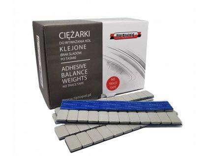 Závaží samolepicí ocelové 5 g, 100 pásek x 12 ks, šedé, nezanechávající stopy