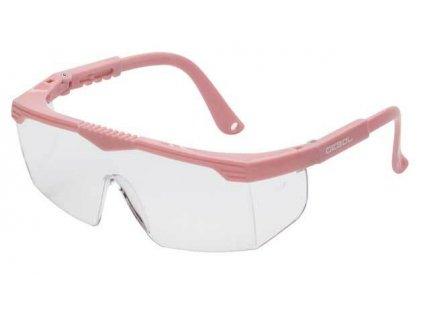 Brýle ochranné dětské SAFETY KIDS, růžové, nastavitelná raménka