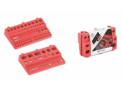 Držáky na nářadí 190 x 111 mm BINEER SHELFS, závěsné červené, sada 2 ks
