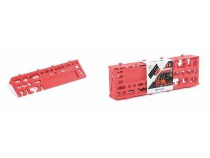 Džáky na nářadí 384 x 111 mm BINEER SHELFS, závěsné červené, sada 2 ks
