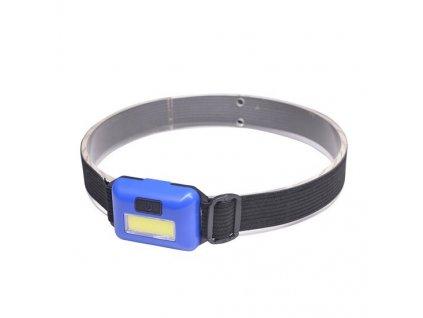 Čelovka LED COB 3W, modrá