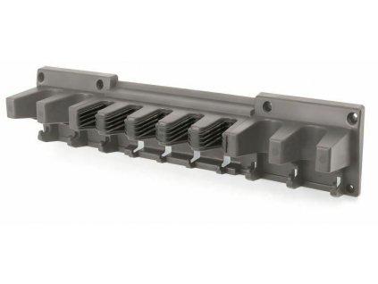 Držák na zahradní nářadí 597 x 128 x 118 mm Multi Holder, závěsný, šedý