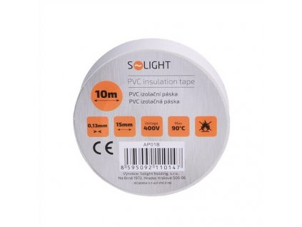 Elektrikářská páska PVC izolační 15 mm x 10 m, bílá