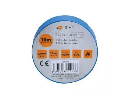 Elektrikářská páska PVC izolační 15 mm x 10 m, modrá