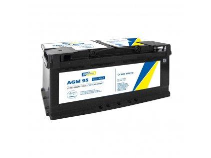 Autobaterie AGM 95 Ah 12V, pro start-stop systém, 353x175x190 mm - Cartechnic