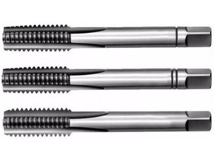 Závitníky sadové metrické NO, levý závit ČSN 22 3010, různé rozměry, 3 ks - Bučovice Tools