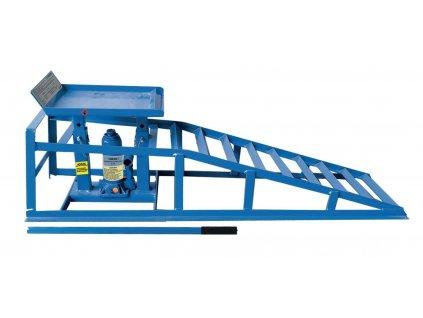 Nájezdová rampa 1 t, s hydraulickým zvedákem - Kunzer