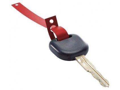 Klíčenky - visačky na klíče s poutkem plastové, balení 1000 ks, červené