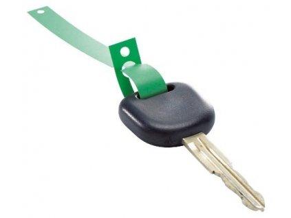 Klíčenky - visačky na klíče s poutkem plastové, balení 1000 ks, zelené