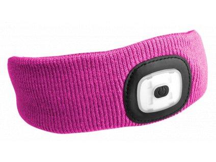 Čelenky s čelovkou 180 lm, nabíjecí USB, univerzální velikosti, různé barvy - SIXTOL