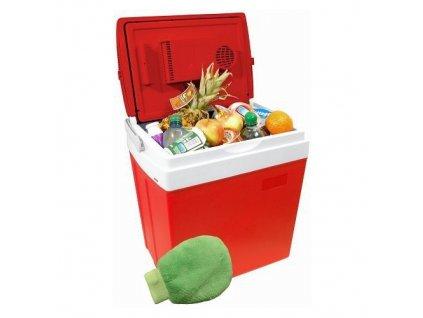Chladící box do auta 220/12V RED, 30 litrů, displej s teplotou - COMPASS