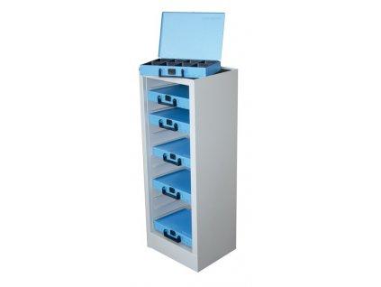 Nástěnná skříň na kufry se spotřebním materiálem Dresselhaus, 14 míst, plech