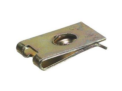 Plechové pružné matice pro samořezné šrouby, různé rozměry, pozinkované, sady 100 ks