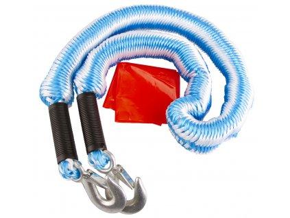 Tažné lano 2 tuny pružné, délka 1,5-4 m, s háky - HOTECHE