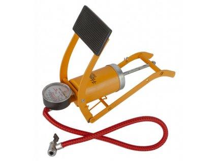 Nožní pumpa s manometrem, husticí adaptéry - HOTECHE
