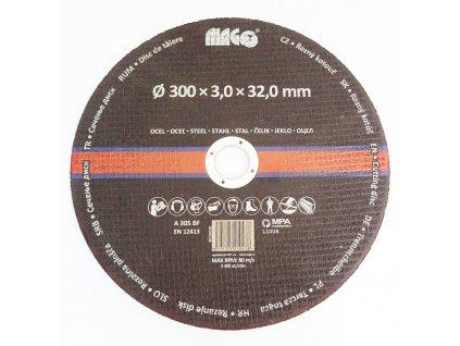 Kotouč řezný na kov 300 x 3,0 x 32,0 mm MAGG