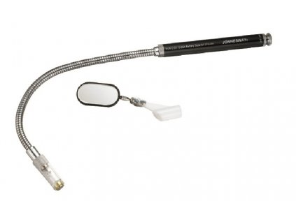 Magnetický vytahovák předmětů, ohebný, s osvětlením a zrcátkem - JONNESWAY AG010035