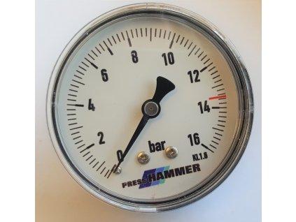 """Manometr 0 - 16 bar, zadní výstup 1/4"""""""