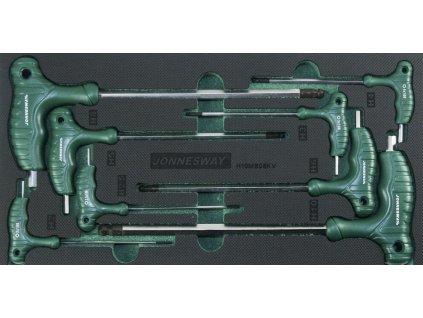 Modul pěnový - klíče Imbus s kuličkou a T rukojetí, H2 - H10, 8 ks - JONNESWAY H10MB08KV