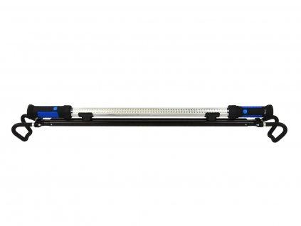 Montážní lampa LED 120 SMD, nabíjecí, s nastavitelným držákem, háčky a magnety