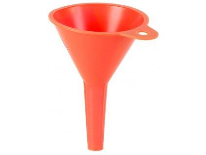 Nálevka - trychtýř bez sítka, průměr 100 mm, objem 0,25 litru, se závěsným očkem