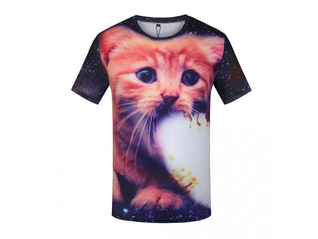 Tričko Rezavá kočka 3D (Číslování velikostí Asijské, Velikost XXL)