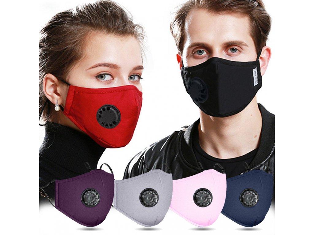 Bavlněná maska z výměnným filtrem