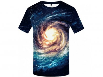 Tričko Galaxie 3D (Číslování velikostí Asijské, Velikost XXL)