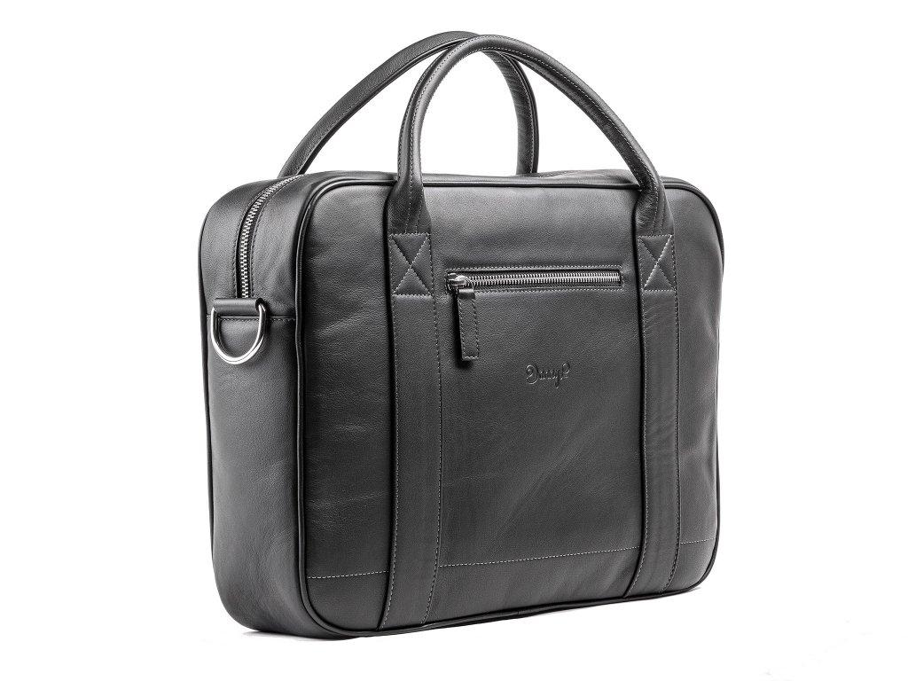 Kožená Messenger taška, Černá