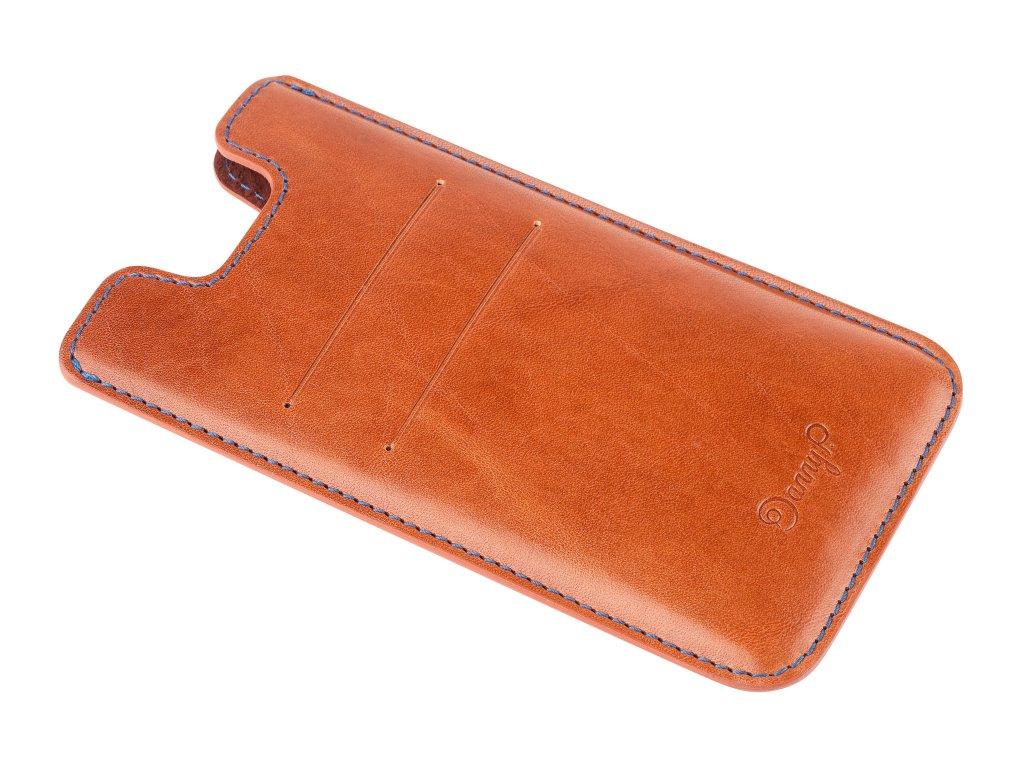 Kožený obal na iPhone 7/6S/6, Hnědý