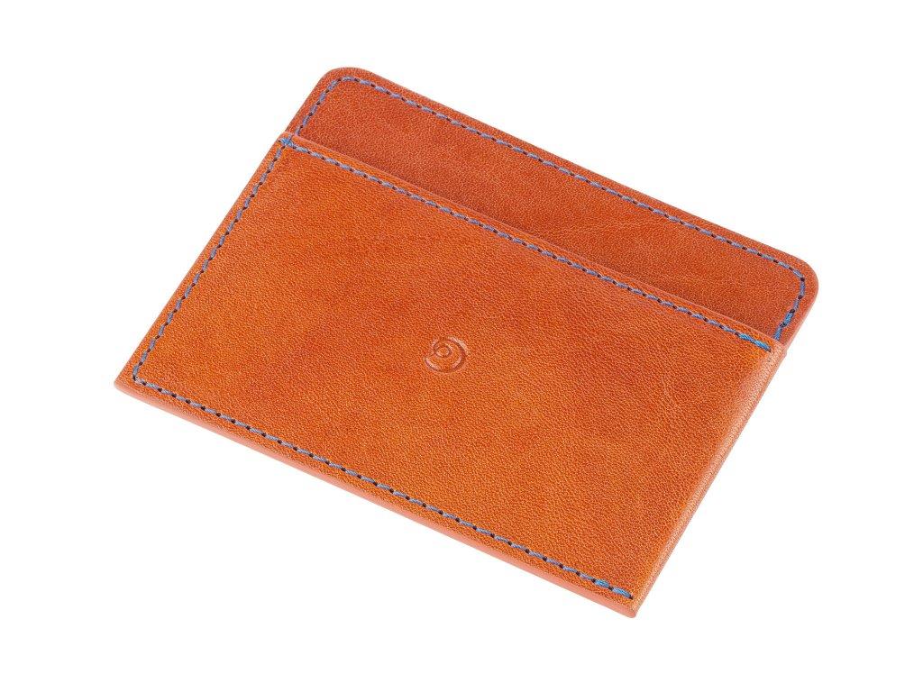 Kožená peněženka na karty, Hnědá