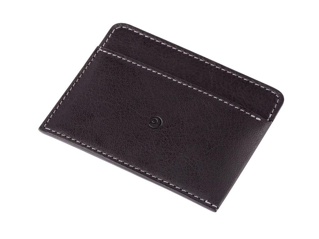 Kožená peněženka na karty, Černá