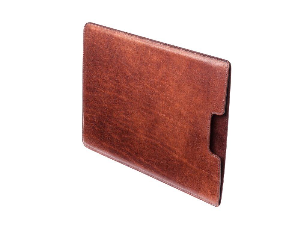 """Kožený obal na MacBook 12"""", Tmavě hnědý"""
